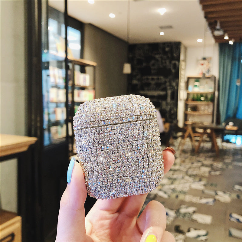Apple Airpods Bling Diamonds Earphone Case Charging Box Bags