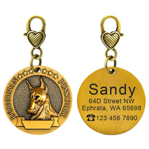 Customized Nameplate Anti-lost Engraving Pet Pendant