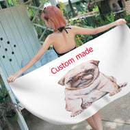 Customized Photo Rectangle Soft Beach Towels