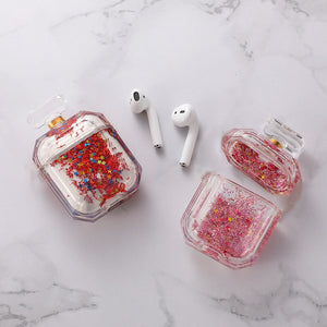 AirPods Luxury Quicksand Transparent Earphone Case