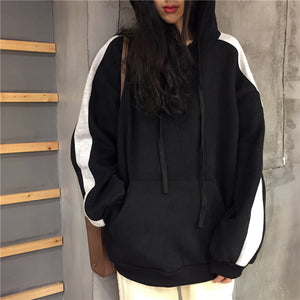 Loose Stitching Plus Velvet Thick Hoodies