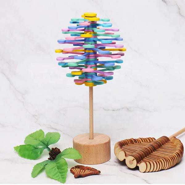 Wooden Helicone Magic Wand Stress Relief Toy