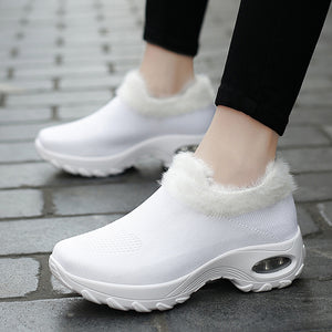 Large Size Winter Outdoor Mesh Warm Plush Sneakers