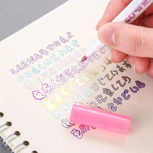 Double Line Gift Card Writing & Drawing Outline Pen (8 Colors)