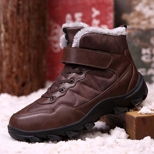 Men's Non-Slip Warm Lining Lace-Up Hiking Boots