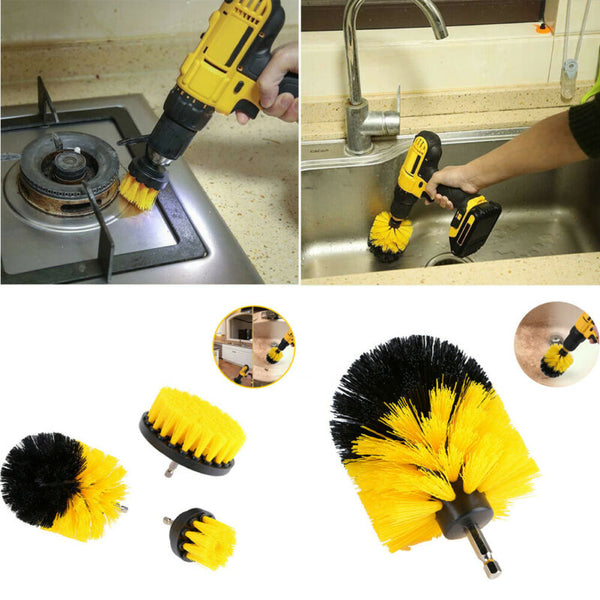6Pcs Grout Power Scrubber Cleaning Brush Cleaner Combo Tool