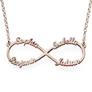 Personalized Infinity Up to 4 Names Necklace