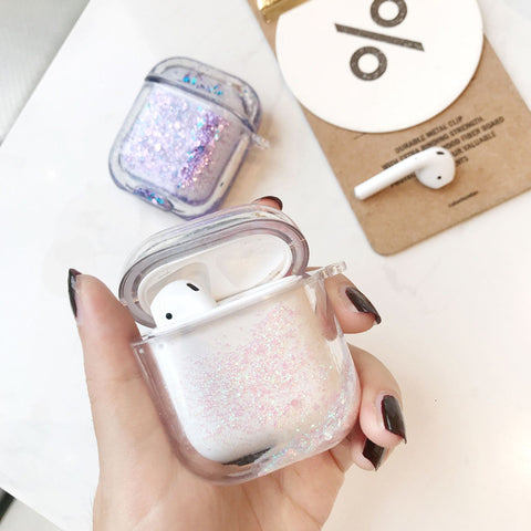 Airpods Quicksand Glitter Wireless Bluetooth Earphone Case