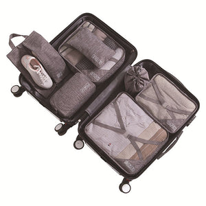 Seven Piece Portable Storage Bag