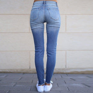 Plus Size Buttoned Stretch-leg Women's Jeans