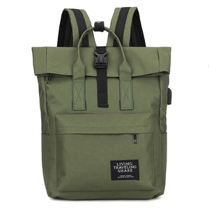 Large Canvas Travel Backpack
