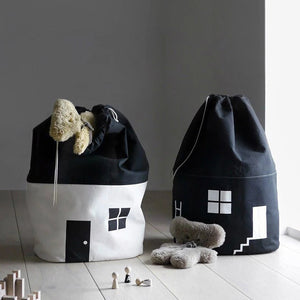 House Canvas Toy Storage Bags
