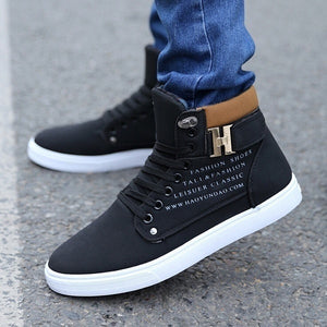 Chic Casual Men's Lace Up Tennis Sneakers