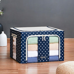 Foldable Clothes Blanket Quilt Organizer