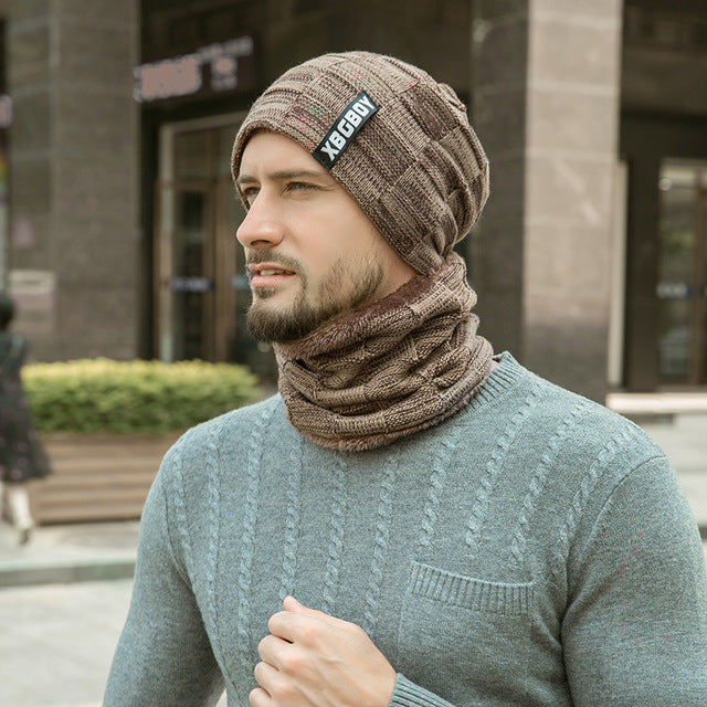 Neck Warmer Knitted Hat Scarf Set