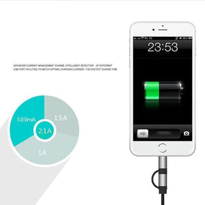 Two-In-One Retractable Car Charger