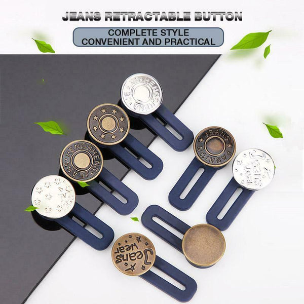 Jeans Retractable Detachable Extended Buttons
