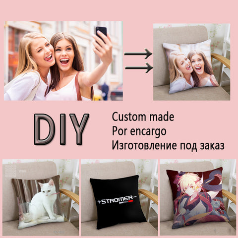 Two Sides Picture Square Customized Cushion