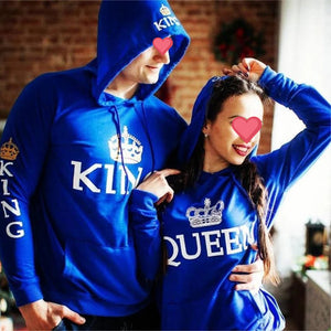 Lovely Gift -  Blue King & Queen Hoodies