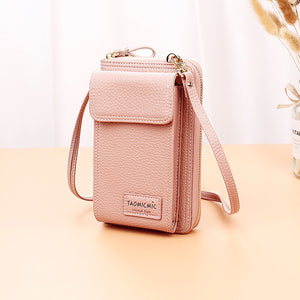 Solid Color Crossbody Phone Bag