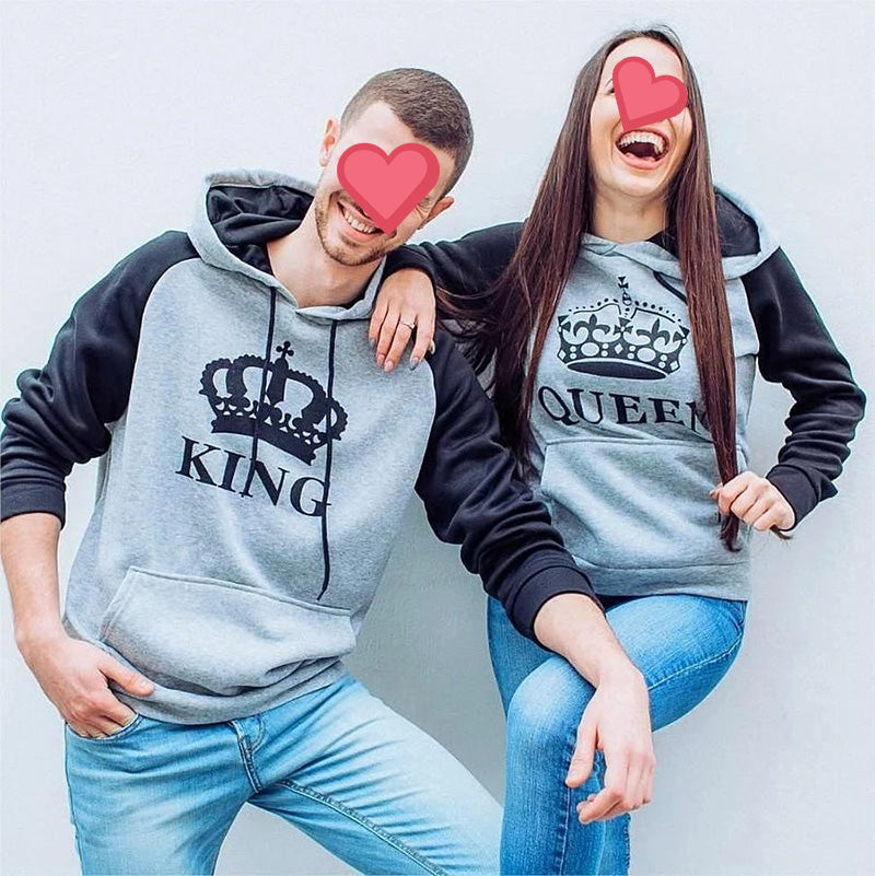 King & Queen Cool Hoodies