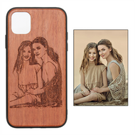 Customized Carved Natural Real Wood Phone Cases