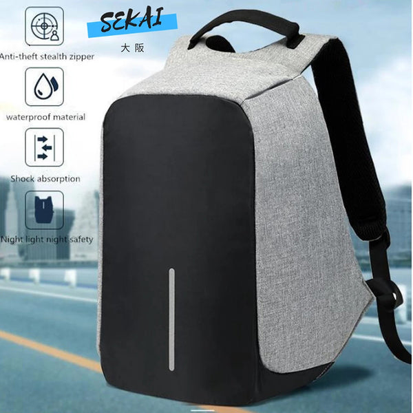 Anti Theft Multifunction Waterproof Unisex Backpack