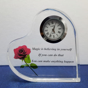 Customized Engraving Photo Printing Heart Clock