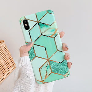 Geometric Marble Phone Cases
