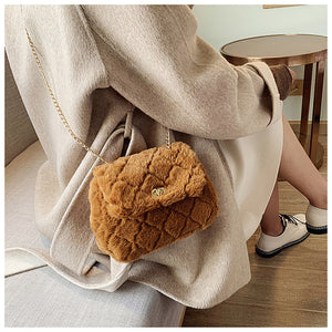 Fashion Plush Chain Shoulder Messenger Bag