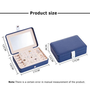 Portable Multi-function PU Leather Jewelry Box