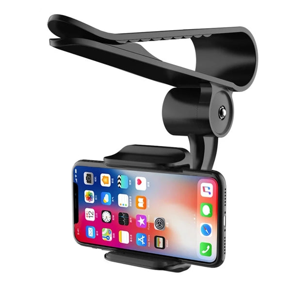 360° Rotation Car Sun Visor Phone Mount