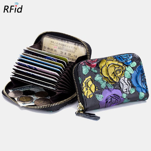 Women Rfid Anti-theft Multi-card Holder Wallets