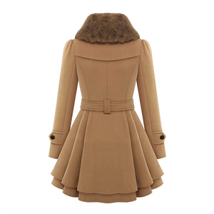 Plus Size Slim Double-breasted Casual Coats