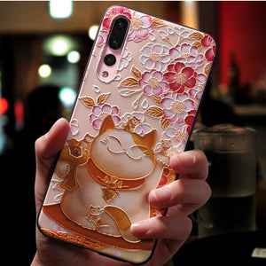 Embossed Phone Case Shockproof Dustproof Shell Cover Custom