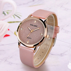 Ladies Elegant Luxury Rhinestone Quartz Wrist Watches