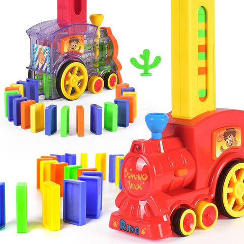 Train Electric DominoAutomatic Set Up Colorful Toys