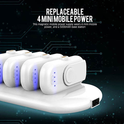 Magnetic Power Bank Mini Finger Emergency Mobile Power