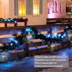 8 Modes & Waterproof LED Starburst Lights with Remote
