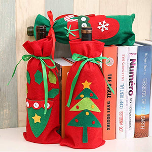 3pcs Christmas Wine Bottle Covers