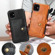 Multiple Card Slots Back Cover Retro Drop Resistance Wallet Case