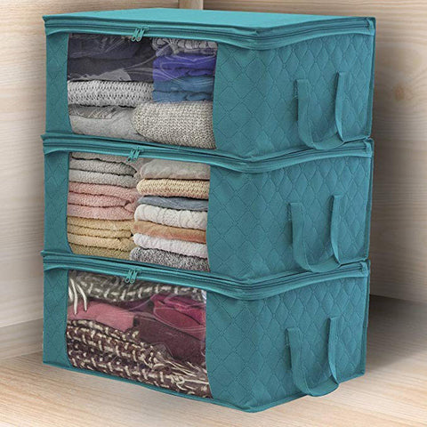 Quilt Blanket Storage Bag Box Organizer Portable
