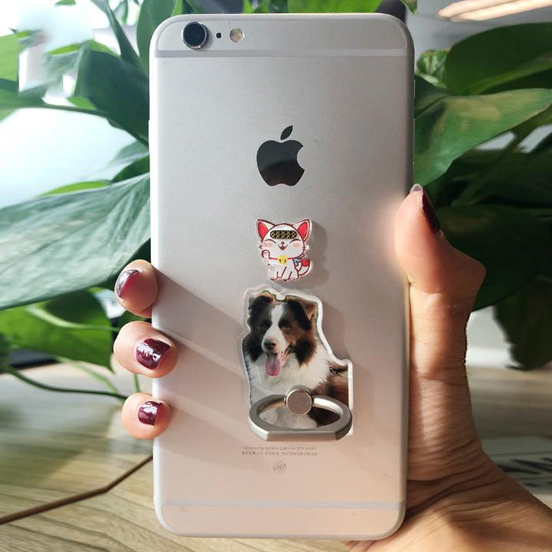 Custom Pet Phone Ring Stand