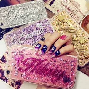 Fashion Customize Name Quicksand Phone Case