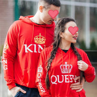 Lovely Gift - Red King & Queen Hoodies