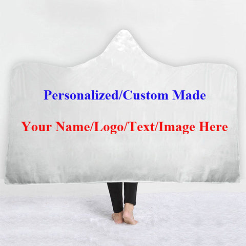 Personalized Custom Made Adult Kids Hooded Blanket Cloak