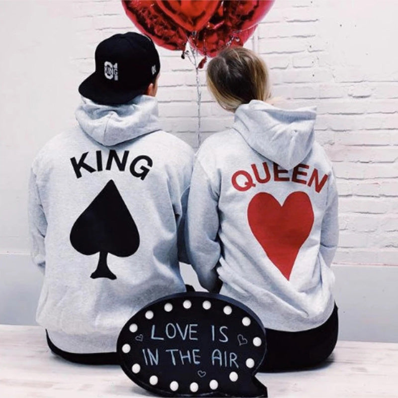 Lovely Gift - Card King Queen Hoodies