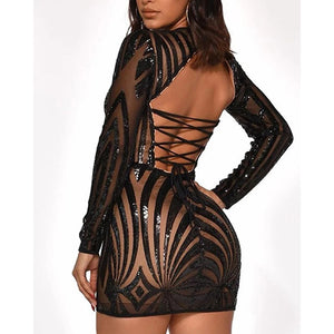 Sexy Backless Strappy Mini Dresses
