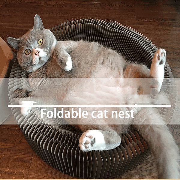 Foldable Cat Nest Corrugated Scratch Board