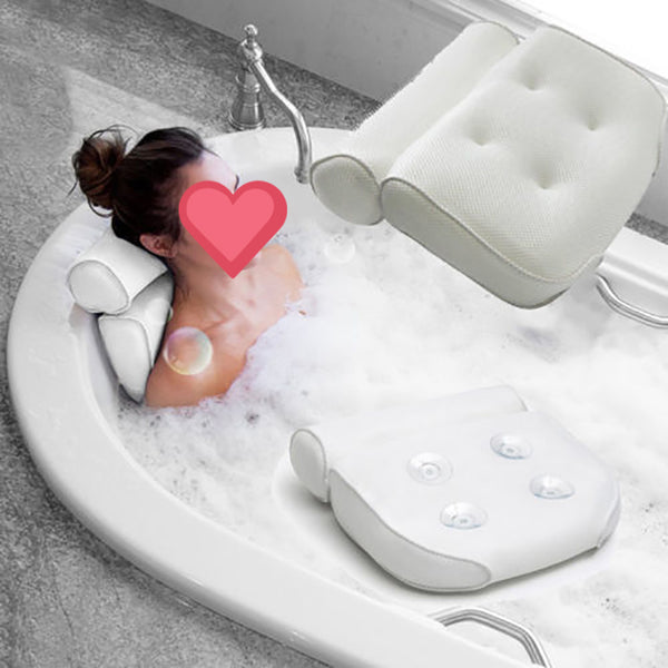 3D Mesh Bathtub Pillo Bath Cushion